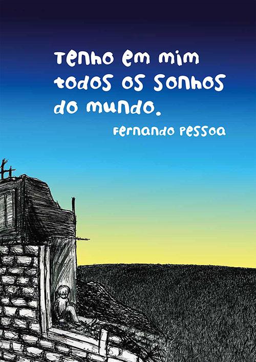 Illlustration eines Zitates von Fernando Pessoa